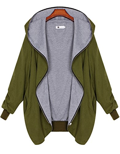Zarlena Damen Full Zipper Jacke Hoodie Oversized Parka Kapuzenjacke in mehreren Farben und Größen