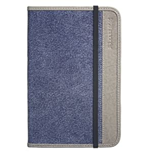 Snugg Denim Case Cover for the Amazon Kindle 3 e-reader - Blue Denim