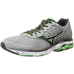 Mizuno Men's Wave Inspire 11 Running Shoe,Alloy Black,9.5 D US