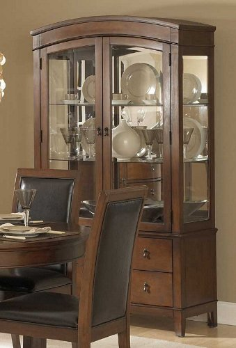 Buy Low Price Homelegance China Cabinet Arched Top Design