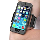 iPhone 6 Plus Armband , SUPCASE **SPORT RUNNING** Apple iPhone 6 Plus Armband 5.5 inch Easy Fitting Sport Running Armband with Premium Flexible Case Combo for iPhone 6 Plus Cover (Black), Not Fit iPhone 6 4.7 inch