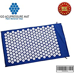 ★ Best Back Pain Relief ★ Go Acupressure Mat™ ★ Relief From Chronic Upper, Mid, Lower Back Pain ★ Relieve Tension ★ Reduce Anxiety Neck and Back Massage ★ Better Sleep and Blood Circulation ★ 100% High Quality Cotton and Eco Foam 396
