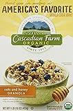 Cascadian Farm Organic Cereal, Oats & Honey Granola, 16 Oz