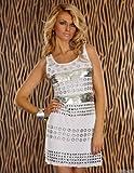 Tailliertes Minikleid aus zartem Stretch-Tüll