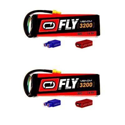 Venom-Fly-30C-4S-3200mAh-148V-LiPo-Battery-with-UNI-20-Plug-XT60DeansEC3-x2-Packs-Compare-to-E-flite-EFLB32004S30