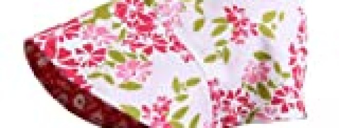 Susu & Cra Pink Floral Baby Bonnet-S