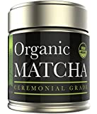 Kiss Me Organics' Ceremonial Matcha - Japanese Matcha Green Tea Powder - USDA Certified Organic - Ceremonial Grade - [1oz]