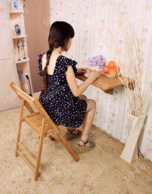 Wandklapptisch aus Bambus - vielfältige Einsatzmöglichkeiten