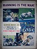 Denver Broncos 24 Carolina Panthers 10 - 2016 Super Bowl 50 - souvenir print