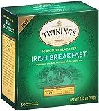 Twinings Black Tea Bags, Irish Breakfast, 50 Count (Pack of 6)