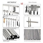 UNONA Magnetic Knife Holder 16 inch Stainless Steel with 6 Removable Hooks all different uses