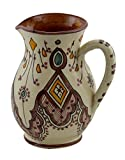 Moroccan Pitchers Sangria Handmade Ceramic Carafe Beverage Dispenser Jar Cooler Easy Pour 58 Oz Large