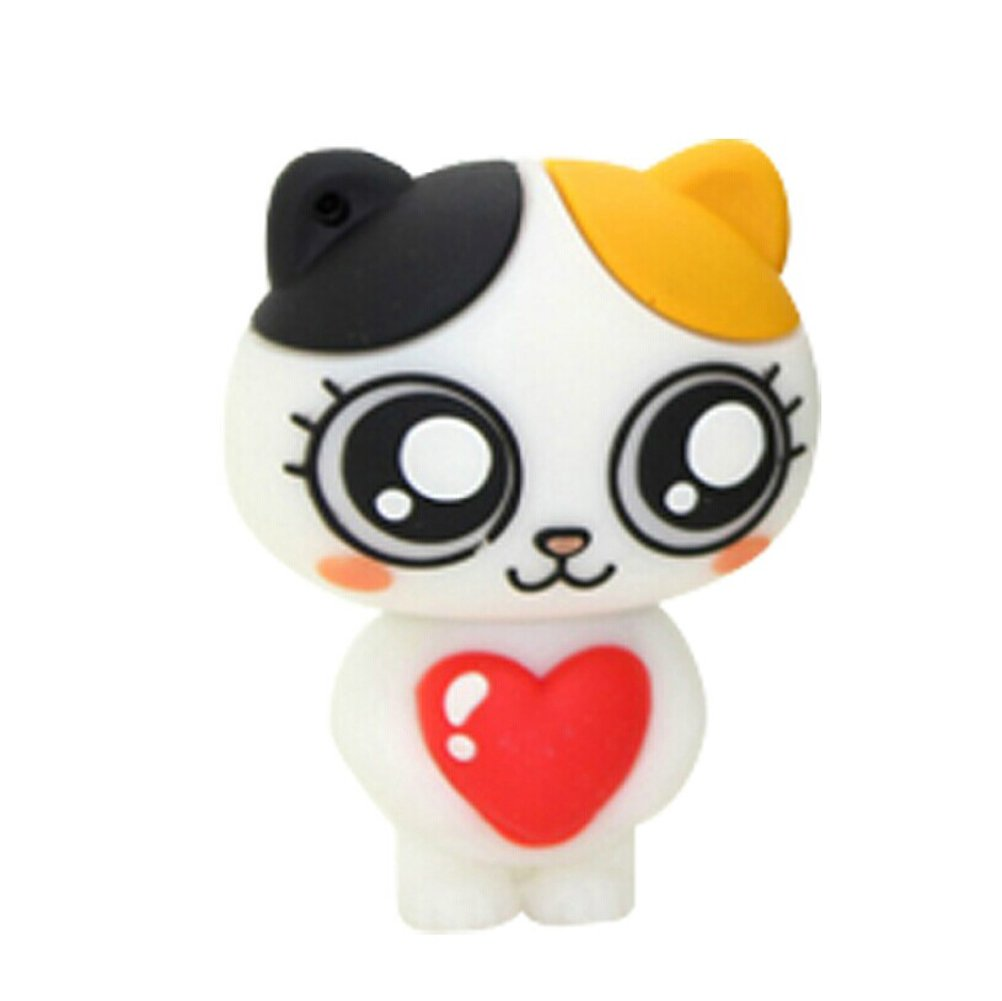 Sunworld Novelty 8GB White Attractive Cute Cartoon Cat USB 2.0 Flash drive