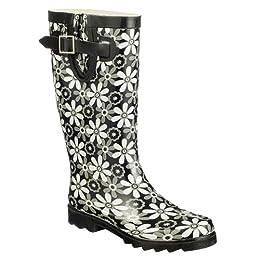Product Image Women's McGibbon Floral Rain Boots - Black