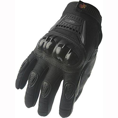 Street Bike Full Finger Motorcycle Gloves 09 Large, Black -7106