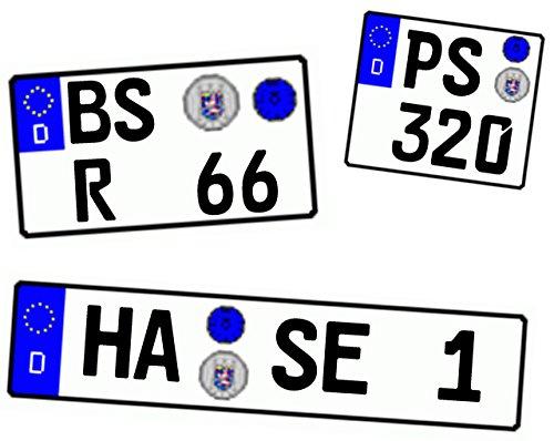 Wunschkennzeichen-fr-Modellauto-und-Motorrad-hochglnzend-und-selbstklebend-fr-alle-Mastbe-110-112-118-124-132-143-164-172-187