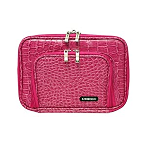 CaseCrown Pocket Satchel Case for Amazon Kindle 3G + WiFi (Latest Generation)- Alligator Hot Pink