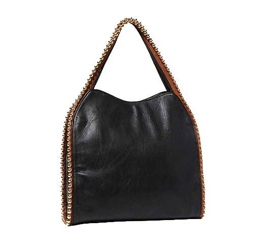 'Grayson' Designer Inspired Women's Black Slouchy Hobo Bag
