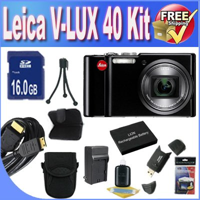 Leica V-Lux 40 14.1 Megapixel Compact Digital Camera with 20x Optical Zoom, 24-480 mm Leica DC Vario-Elmar Lens, 3 inch Touch