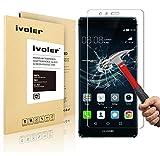 Huawei P9 Pellicola Protettiva, iVoler® Pellicola Protettiva in vetro temperato per Huawei P9 - Vetro con Durezza 9H, Spessore di 0,2 mm,Bordi Arrotondati da 2,5D-Shockproof, Trasparenza ad alta definizione, Facile da installare- Garanzia a vita