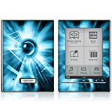 Abstract Blue Tech Design Protective Decal Skin Sticker for Sony Digital Reader Pocket Touch Edition PRS 700