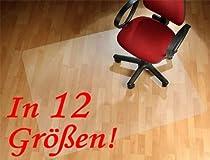 Floordirekt PRO Bodenschutzmatte mit TÜV (12 Größen zur Wahl) 90x120cm - für Hartböden - Polycarbonat