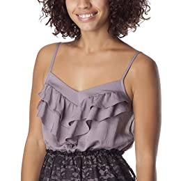 Product Image Xhilaration® Juniors Front Ruffle Dress - Dusty Mauve/Black S