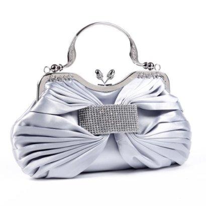 Damara-Womens-Gold-Pleated-Rhinestones-Satin-Clutch-Handbags