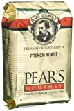 Pear's Gourmet French Roast Ground Coffee, 8-Ounce Bags (Pack of 6)