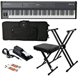 Kurzweil SP4-8 Stage Piano BUNDLE w/ Keyboard Case, Stand & Bench