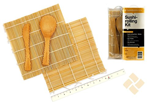 (video review) bambooworx- sushi making kit, 2 sushi rolling mats, 1 rice paddle, 1 rice spreader, sushi rolling kit, 100% bamboo sushi mats and utensils,(VIDEO Review) BambooWorx- Sushi Making Kit, 2 sushi rolling mats, 1 rice paddle, 1 rice spreader, sushi rolling kit, 100\% bamboo sushi mats and utensils,