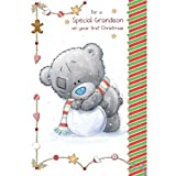 Grandson on First Christmas Me to You Bear Card
