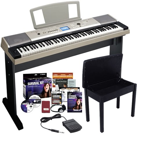 Yamaha YPG-535 Portable Grand Piano BUNDLE w/ Furniture Stand & Bench