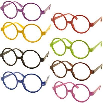 FancyG-Retro-Geek-Nerd-Style-Round-Shape-Glass-Frame-NO-LENSES