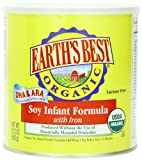 Earth's Best Organic, Soy Infant Formula with Iron, 23.2 Ounce (Pack of 4)