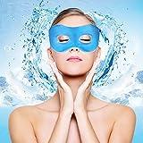 PLEMO クール睡眠アイマスク クールアイマスク 温冷両用アイマスク 目の浮腫みやクマに最適 寝室や旅行中の安眠に最適 EM-462 (ブルー)