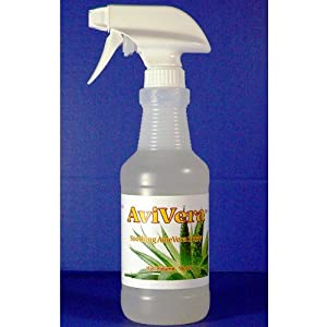 AviVera Aloe Spray is a natural remedy to alleviate feather pulling in parrots