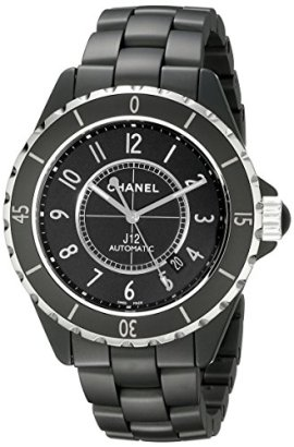 Chanel-Womens-H3131-Analog-Display-Automatic-Self-Wind-Black-Watch