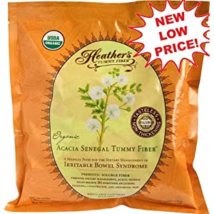 Heather's Tummy Fiber POUCH Organic Acacia 16 oz. for Irritable Bowel Syndrome
