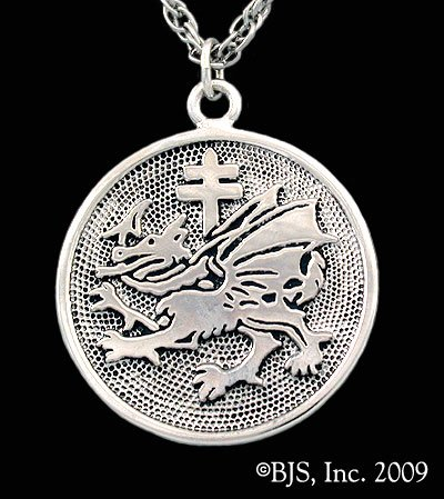 Sterling Silver Vlad Dracula's Order of the Dragon Pendant