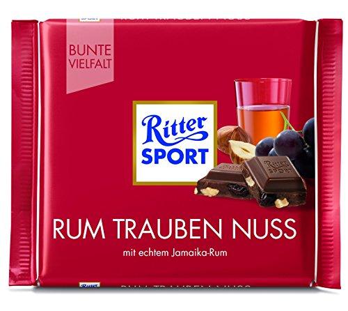 Ritter Sport 100 g Rum Trauben Nuss Tafelschokolade, 12er Pack (12 x 100 g)