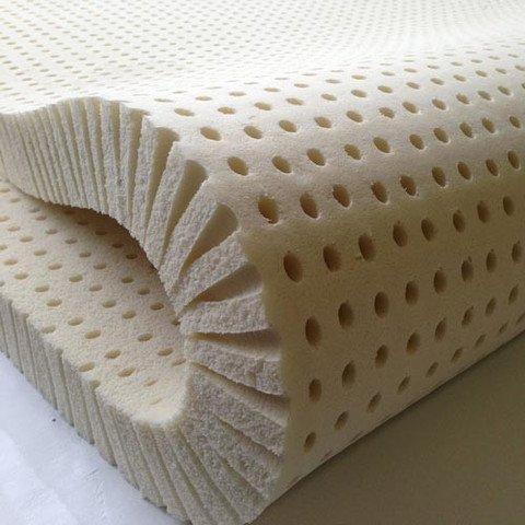 """Pure Green 100% Natural Latex Mattress Topper - Soft - 2"""" Queen Size"""