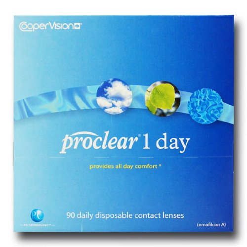 Cooper Vision Proclear 1 Day Tageslinsen weich, 90 Stück / BC 8.7 mm / DIA 14.2 / -10,00 Dioptrien