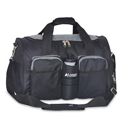 Everest-Gym-with-Wet-Pocket-Duffel-Bag-Dark-GrayBlack