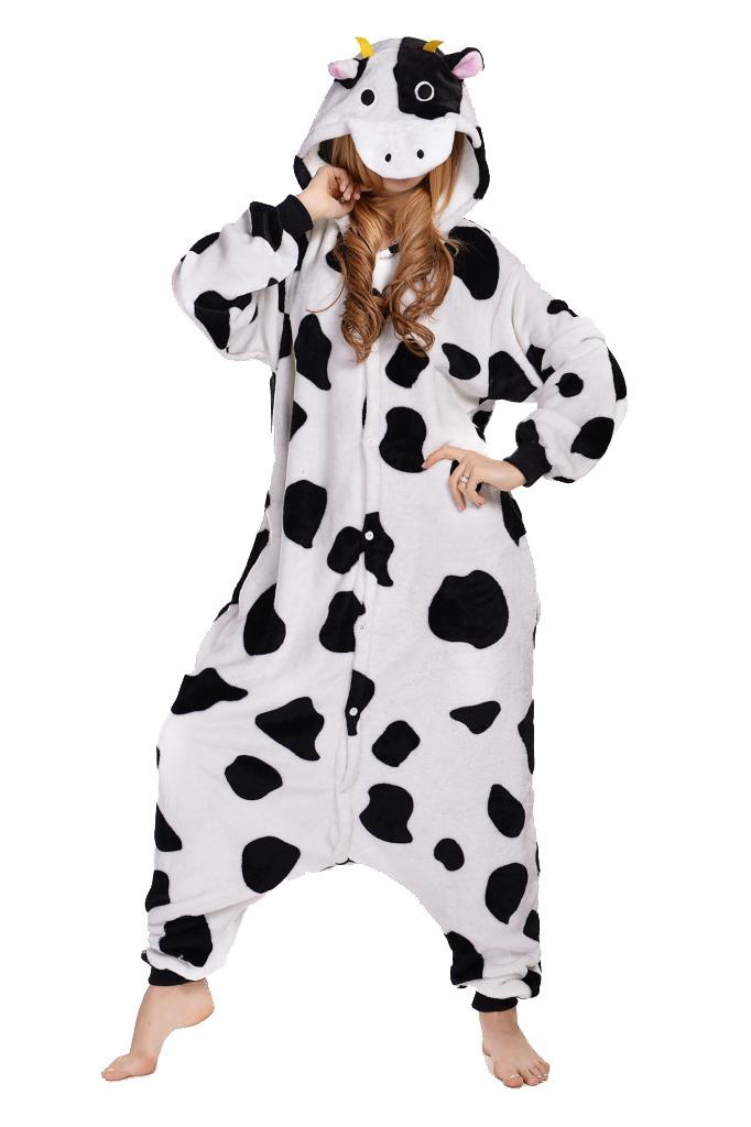 Unisex Cow Pyjamas Kigurumi Onesie Halloween Costume