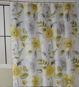 1 cynthia rowley yellow floral fabric shower curtain quilts makeup