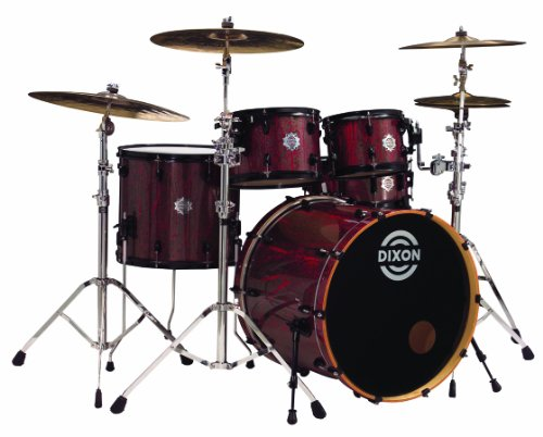 Dixon DM 522P RDPL    Discount CHEAP DRUM SETS   Sale Bestsellers     Dixon Demon Series DM 522P RDPL 5 Piece Drum Set  Red Plasma  CHEAP