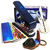 Pick-a-Palooza® DIY Guitar Pick Punch Mega Gift Pack - The Premium Guitar Pick Maker with a Leather Key Chain Pick Holder, 15 Guitar Pick Strips and a Guitar Shaped File - Now You Can Make Your Own Guitar Picks - Blue