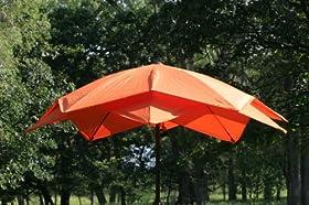9 outdoor lotus fiberglass wind resistant patio umbrella orange sale khlshfhf