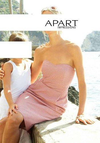 APART Damen-Kleid Corsagen-Kleid rot-weiß